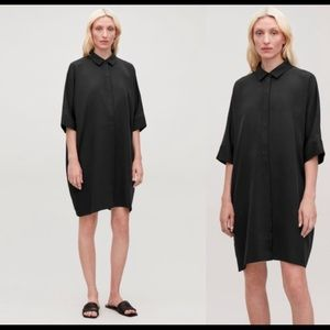 Cos boxy shirt dress bnwt sz M black